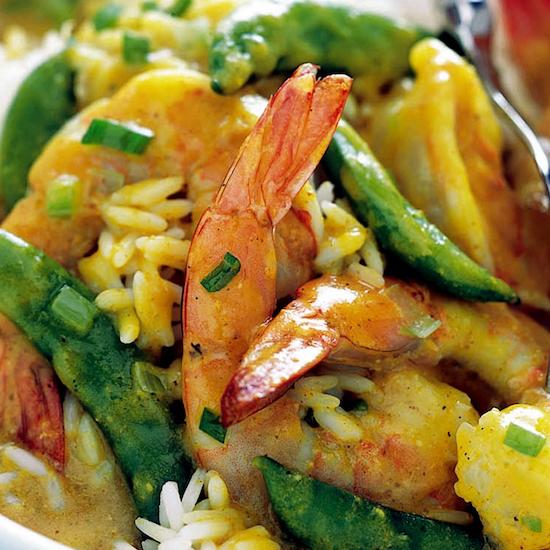 Shrimp w peas