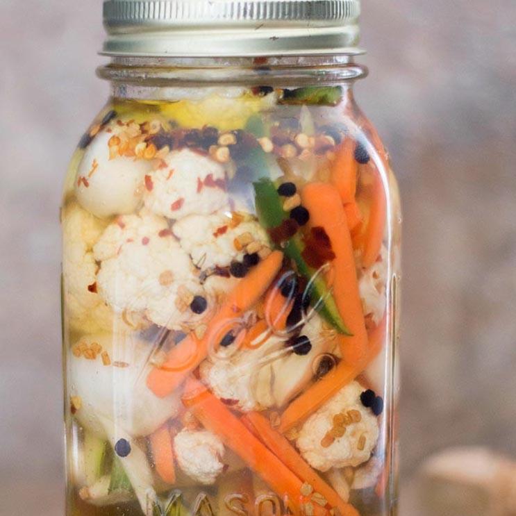 Carrots cauli garlic